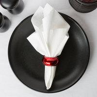 Choice White Linen-Feel 1/8 Fold Dinner Napkin - 50/Pack