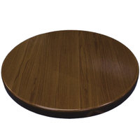 American Tables & Seating ATR36-W Resin 36 inch Round Table Top - Walnut