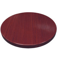 American Tables & Seating ATR24-M Resin 24 inch Round Table Top - Mahogany