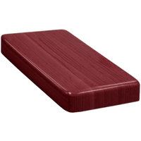 American Tables & Seating ATR2430-M Resin Super Gloss 24 inch x 30 inch Rectangle Table Top - Mahogany