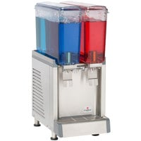 Crathco Mini CS-2E-16S Double 2.4 Gallon Bowl Premix Cold Beverage Dispenser with Spray Function