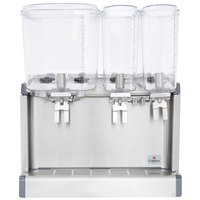Crathco CS-3D-16 Triple Bowl Premix Cold Beverage Dispenser with (1) 4.75 Gallon Hopper, (2) 2.4 Gallon Hoppers, and Agitation Function