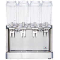 Crathco Mini-Quad CS-4E-16S Quadruple 2.4 Gallon Bowl Premix Cold Beverage Dispenser with Spray Function