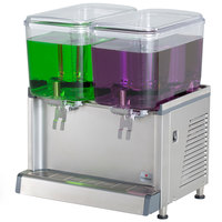 Crathco CS-2D-16 Double 4.75 Gallon Bowl Premix Cold Beverage Dispenser with Agitation Function