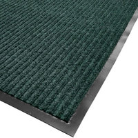 Cactus Mat 1485M-G48 4' x 8' Green Needle Rib Carpet Mat - 3/8 inch Thick