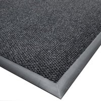 Cactus Mat 1410M-L46 Ultra-Berber 4' x 6' Charcoal Anti-Fatigue Carpet Mat - 1/2 inch Thick