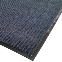 Cactus Mat 1485M-U36 3' x 6' Blue Needle Rib Carpet Mat - 3/8 inch Thick