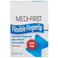 Blue Woven Adhesive Fingertip Bandage - 50/Box