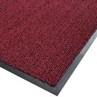Cactus Mat 1366M-R34 Vinyl-Loop 3' x 4' Red / Black Scraper Mat - 3/8 inch Thick