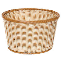 GET WB-1521-TT Designer Polyweave 12 inch x 7 inch Two-Tone Round Plastic Basket - 6/Pack