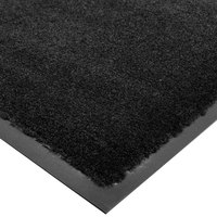 Cactus Mat 1438M-C34 Tuf Plush 3' x 4' Olefin Carpet Entrance Floor Mat - Black