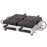 Krampouz WECCHBAT 4 inch x 7 inch Liege-Style Double Belgian Waffle Maker - 208/240V, 3600W