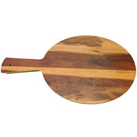Elite Global Solutions M12RW-HW Fo Bwa 12 inch Round Hickory Wood Melamine Serving Board