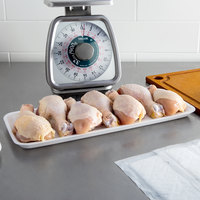 CKF 88107 (#7H/7S) White Foam Meat Tray 14 3/4 inch x 5 3/4 inch x 5/8 inch - 250/Case