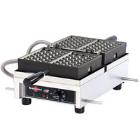 Krampouz WECDHAAS 4 inch x 7 inch Liege-Style Single Belgian Waffle Maker - 120V, 1440W