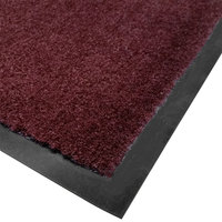 Cactus Mat 1438M-R34 Tuf Plush 3' x 4' Olefin Carpet Entrance Floor Mat - Burgundy