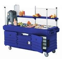 Cambro KVC856186 CamKiosk Navy Blue Customizable Vending Cart with 6 Pan Wells