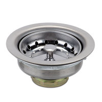 Advance Tabco K-6 Equivalent 3 1/2 inch Stainless Steel Basket Drain Assembly