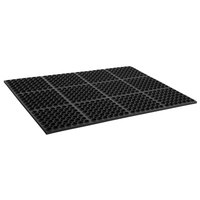 Cactus Mat 2520-C3 VIP Deluxe 29 inch x 39 inch Black Heavy-Duty Rubber Anti-Fatigue Floor Mat - 7/8 inch Thick