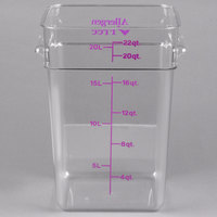 Cambro 22SFSCW441 CamSquare 22 Qt. Purple Allergen Free Food Storage Container