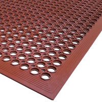 Cactus Mat 2522-R5 VIP TopDek Senior 3' x 5' Red Heavy-Duty Grease-Resistant Anti-Fatigue Floor Mat - 1/2 inch Thick