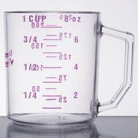 Cambro 25MCCW441 Camwear 1 Cup Purple Allergen Free Measuring Cup