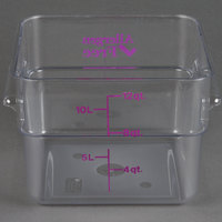 Cambro 12SFSCW441 CamSquare 12 Qt. Purple Allergen Free Food Storage Container