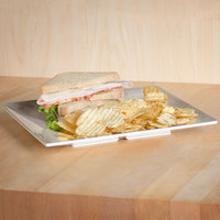 Thunder Group SD3210J Jazz 10 inch Square Melamine Plate with Crackle-Finished Border