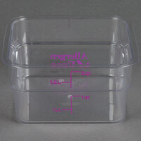 Cambro 2SFSCW441 CamSquare 2 Qt. Allergen Free Purple Food Storage Container