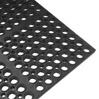 Cactus Mat 2521-C3 VIP Lite 29 inch x 39 inch Black Rubber Anti-Fatigue Floor Mat - 1/2 inch Thick