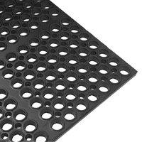 Cactus Mat 2521-C3 VIP Lite 29 inch x 39 inch Black Rubber Anti-Fatigue Floor Mat - 1/2 inch Thick