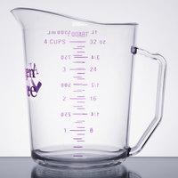 Cambro 100MCCW441 Camwear 1 Qt. Purple Allergen Free Measuring Cup