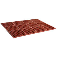 Cactus Mat 2520-R3S VIP Deluxe 29 inch x 39 inch Red Heavy-Duty Grease-Resistant Rubber Anti-Fatigue Floor Mat - 7/8 inch Thick