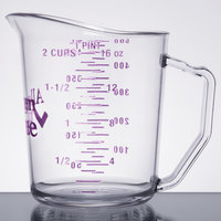 Cambro 50MCCW441 Camwear 1 Pint Allergen Free Purple Measuring Cup