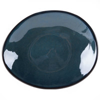 Tuxton GAN-651 Artisan Night Sky 8 1/4 inch x 10 inch Ellipse China Plate - 12/Case