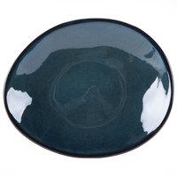 Tuxton GAN-651 TuxTrendz Artisan Night Sky 8 1/4 inch x 10 inch Ellipse China Plate - 12/Case
