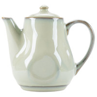 Tuxton GAS-101 TuxTrendz Artisan Sagebrush 17 oz. China Teapot with Lid - 12/Case