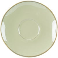 Tuxton GAS-084 Artisan Sagebrush 6 3/8 inch China Saucer - 24/Case