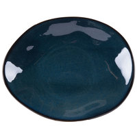 Tuxton GAN-652 TuxTrendz Artisan Night Sky 9 3/4 inch x 12 inch Ellipse China Plate - 12/Case