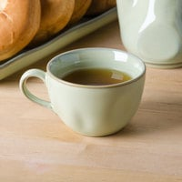 Tuxton GAS-083 TuxTrendz Artisan Sagebrush 10.5 oz. Round China Cup - 24/Case