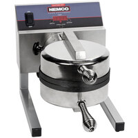 Nemco 7020A-S240 SilverStone Non-Stick Belgian Waffle Maker with Removable Grids - 240V