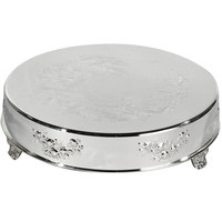 Eastern Tabletop 8004L 16 inch Round Silver Plated Cake Riser