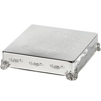 Eastern Tabletop 8006L 14 inch Square Silver Plated Cake Riser