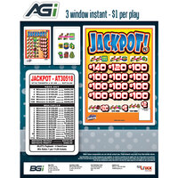 Jackpot 3 Window Pull Tab Tickets - 2716 Tickets Per Deal - Total Payout: $2316