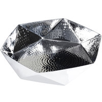 Eastern Tabletop 9380 6 inch Hammered Stainless Steel Geometric Bowl