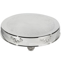 Eastern Tabletop 8001L 18 inch Round Silver Plated Cake Riser