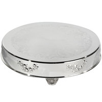 Eastern Tabletop 8002L 22 inch Round Silver Plated Cake Riser
