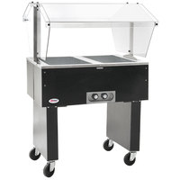 Eagle Group BPDHT2 Deluxe Service Mates Two Pan Open Well Portable Hot Food Buffet Table with Open Base - 240V, 3 Phase
