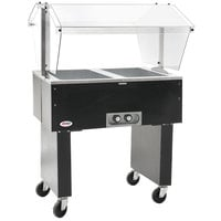 Eagle Group BPDHT2 Deluxe Service Mates Two Pan Open Well Portable Hot Food Buffet Table with Open Base - 120V