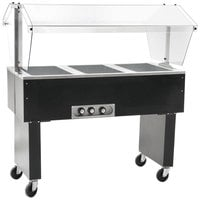 Eagle Group BPDHT3 Deluxe Service Mates Three Pan Open Well Portable Hot Food Buffet Table with Open Base - 120V